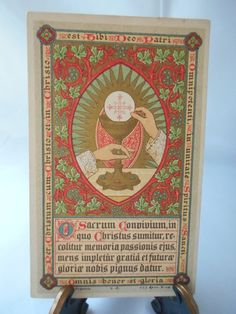 Religious Gold print Holy card Vintage Christian by mymedievalmind
