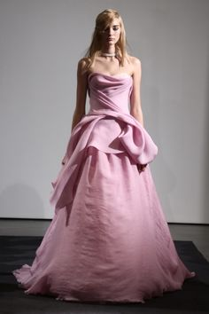The Vera Wang Bridal Fall 2014 Collection Dazzles in Pink