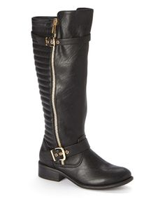 Love this Black Justina Boot by Jacobies Footwear on #zulily! #zulilyfinds