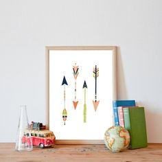 Four Pastel Arrows