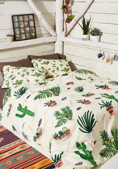 Cactus Print Clothing & Accessories - Get Your Chlorophyll Duvet Cover in Full/Queen