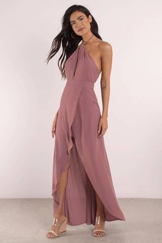 Channel your inner goddess in the Marsala Patti Halter Wrap Maxi Dress. This divine wrap dress fits like heaven to your curves featuring a twisted hal - Fast & Free Shipping For Orders over $50 - Free Returns within 30 days!