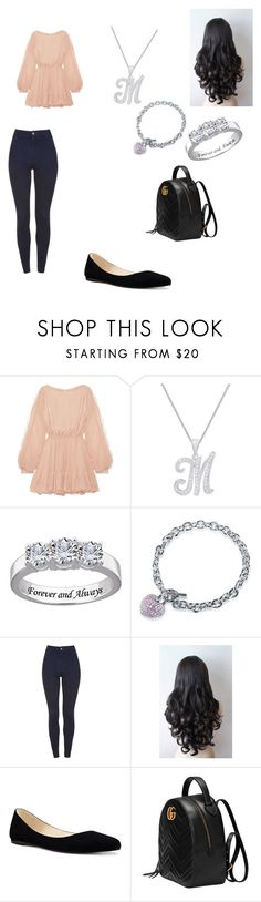"""""""Untitled #193"""" by bellalestrange49 ❤ liked on Polyvore featuring LoveShackFancy, BERRICLE, Nine West and Gucci"""