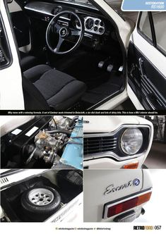 Ford Escort BDA Restoration By The Escort Agency, Retro Ford Magazine Blast From The Past Escort Mk1, Ford Escort, Ford Rs, Ford Sierra, Ford Capri, Ford Classic Cars, Rally Car, Car And Driver, Ford Focus