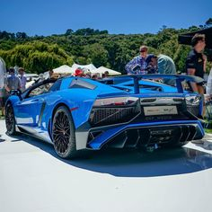 Lamborghini Aventador Super Veloce Roadster painted in Blue Ely  Photo taken by: @sf_media on Instagram