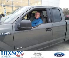 Congratulations Dale on your #Ford #F-150 from Scott Turner at Hixson Ford of Monroe!  https://deliverymaxx.com/DealerReviews.aspx?DealerCode=M553  #HixsonFordofMonroe