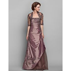 A-line Strapless Taffeta Mother of the Bride Dress (612490) – USD $ 147.99