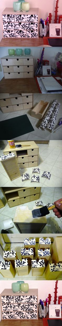 DIY IKEA Desk Box Organizer