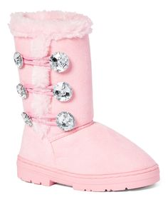 Look what I found on #zulily! Chatz by Chatties Light Pink Three-Button Boot by Chatz by Chatties #zulilyfinds