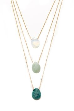 Faux Stone Necklace Set | Forever 21 - 1000153267