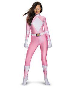 Power Rangers Pink Ranger Bodysuit Womens Costume - Spirithalloween.com