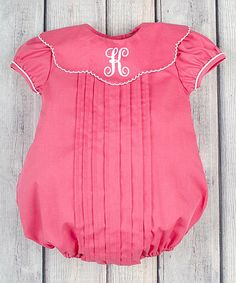 Another great find on #zulily! Fuchsia Initial Cap-Sleeve Bubble Bodysuit - Infant & Toddler #zulilyfinds