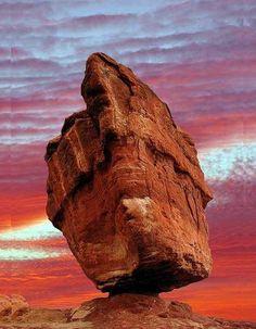 ..Balancing Rock, Digby, Nova Scotia, Canada..
