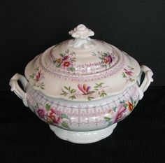 antique english china | John Ridgway Sugar Bowl, Bone China, Antique English, c1830 from ...