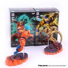 Dragon Ball Z Super Saiyan Son Goku Freeza PVC Action Figures Collectible Model Toys 15cm
