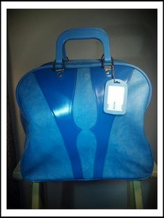 Vintage Robin Egg Blues Bowling Ball Bag by AlleyOopVintage, $40.00