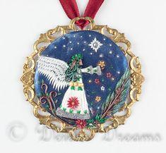 Christmas Angel Pendant Angel Pendant Christmas by DeidreDreams
