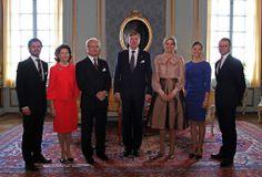 The Dutch monarchs visit the Swedish Royal family 10/14/2013