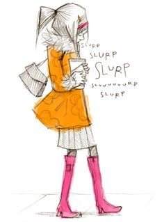 """""""I am a firm believer that an extra lage slurpee is an adequate solution to most problems""""  Abigail Halpin - Illustration  http://blog.theodesign.com"""