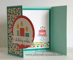 Build a Birthday, Endless Birthday Wishes tri-fold birthday card Love it!