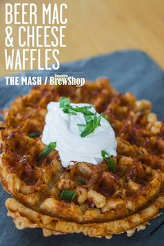 waffle beer mac amp cheese waffles from the brooklyn brew shop get the ...