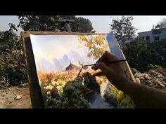 Watercolor Landscape Painting step by step | M KAZMI STUDIOS - YouTube