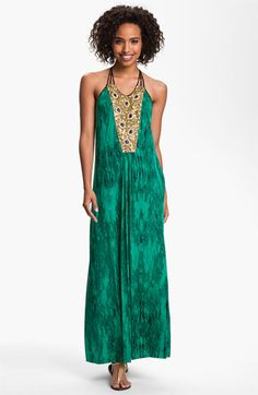 Tbags Los Angeles Embellished Panel Jersey Maxi Dress available at #Nordstrom