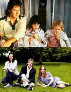 Paul McCartney, Mary McCartney, and Stella McCartney