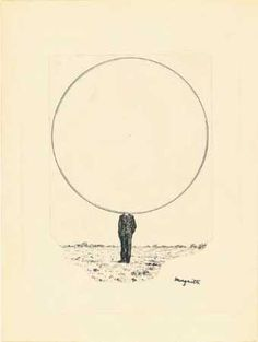 Rene Magritte - Drawing for the title page of L'Invention collective, April 1940