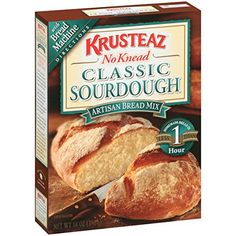 Krusteaz Sourdough Bread Mix, Artisian Bread Mix 14-Ounce Boxes (Pack of 12) Krusteaz http://www.amazon.com/dp/B0010O8PRA/ref=cm_sw_r_pi_dp_igCMub1EZDFPH
