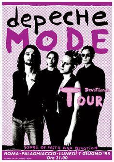 DEPECHE MODE Devotion Tour 7 June 1993 Rome Italy by tarlotoys, €10.00