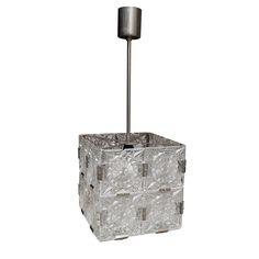 Suspension en verre et métal 1950 > Boutique en ligne : www.dedde-art.com