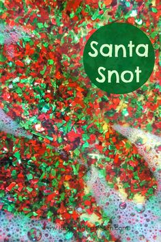 Christmas sensory fun with santa snot! from Laughing Kids Learn - with a name like that my kids will LOVE this!