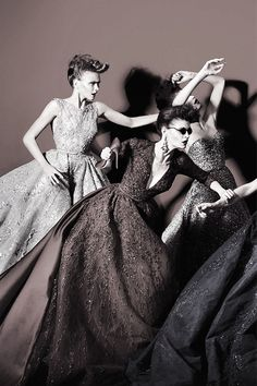 #Elie Saab Haute Couture Models Photo by Kristian Schuller