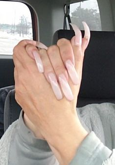 French Manicure Acrylic Nails, Nude Nails, Coffin Nails, Curved Nails, Exotic Nails, Pink Dragon, Double Team, Pink Power, Long Nails