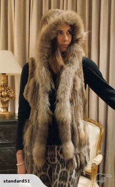 Stylish Rabbit Fur Vest (Gilet) Brown | Trade Me