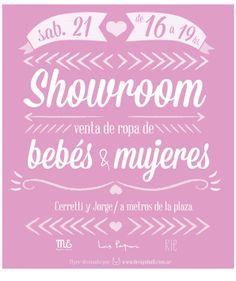 Flyer para feria de ropa para bebés y mujeres.