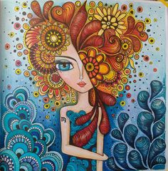 Line Art Flowers, Flower Art, Doodle Art, Wal Art, Unicorn Art, Doll Painting, Whimsical Art, Mosaic Art, Amazing Art
