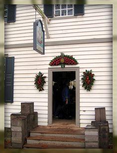 Living In Williamsburg, Virginia: Christmas Decorations at Greenhow Store, Colonial Williamsburg, Williamsburg, Virginia