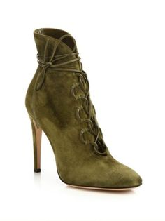 Gianvito Rossi - Marais Suede Lace-Up U Booties