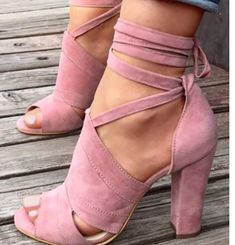 Lace Up Block Heels Sandals Shoes heels Shoe boots Shoes sandals Fashion shoes High heel sandals Cute shoes Top Shoes, Cute Shoes, Women's Shoes, Me Too Shoes, Shoe Boots, Strappy Shoes, Heeled Boots, Fall Shoes, Trendy Shoes