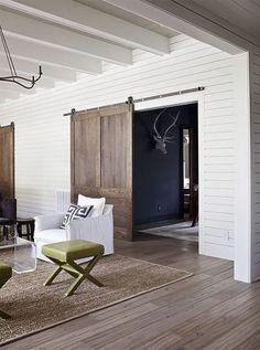 Top 20 Barn Doors | The Blissful Bee great door for Mac's new room entry