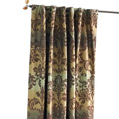 Brown & Blue Ombre Damask Panel - Pier1 US