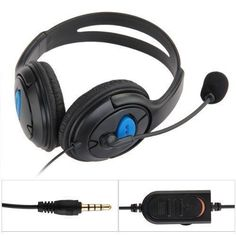 Wired Gaming Headset Headphones with Microphone for Sony PS4 PlayStation 4 PC AC #UnbrandedGeneric