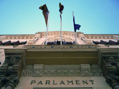 Balearic Islands Parliament in Palma  / Here sits the Parliament of the Balearic Islands of Mallorca, Menorca, Ibiza, Formentera and Cabrera.