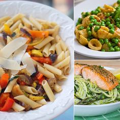 10 Healthy Spring Pasta Recipes Pasta is one of those go-to simple suppers that is always a hit, but sometimes things can get a little heavy. Looking to Spring-clean your favorite recipes and lighten things up a little? Try one of these pasta dishes, all boasting seasonal veggies. Click through to check them out and cook them up before Summer is officially here.