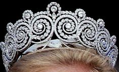 The Khedive of Egypt Tiara - Made by Cartier, this diamond ornament was a gift to Princess Margaret of Connaught when she married Crown Prince Gustav Adolf of Sweden in 1905 from the Khedive of Egypt. A fitting gift, as the couple had first met in the Khedive's country.