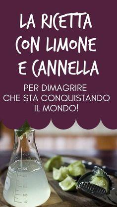 #limone #cannella Cellulite, Detox, Health Fitness, Hobby, Lean Body, Medicine, Alkaline Diet, Baking Soda, Health