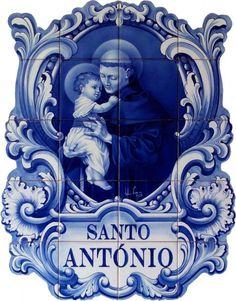 Painel de azulejos - santo antónio 1 - artesanum com