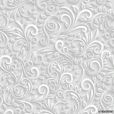 Illustration of Floral Seamless Background vector art, clipart and stock vectors. Seamless Background, Paper Background, Background Patterns, Wallpaper Patterns, Background Ideas, Wedding Frames, Wedding Book, Lego Wedding, Wedding Gifts